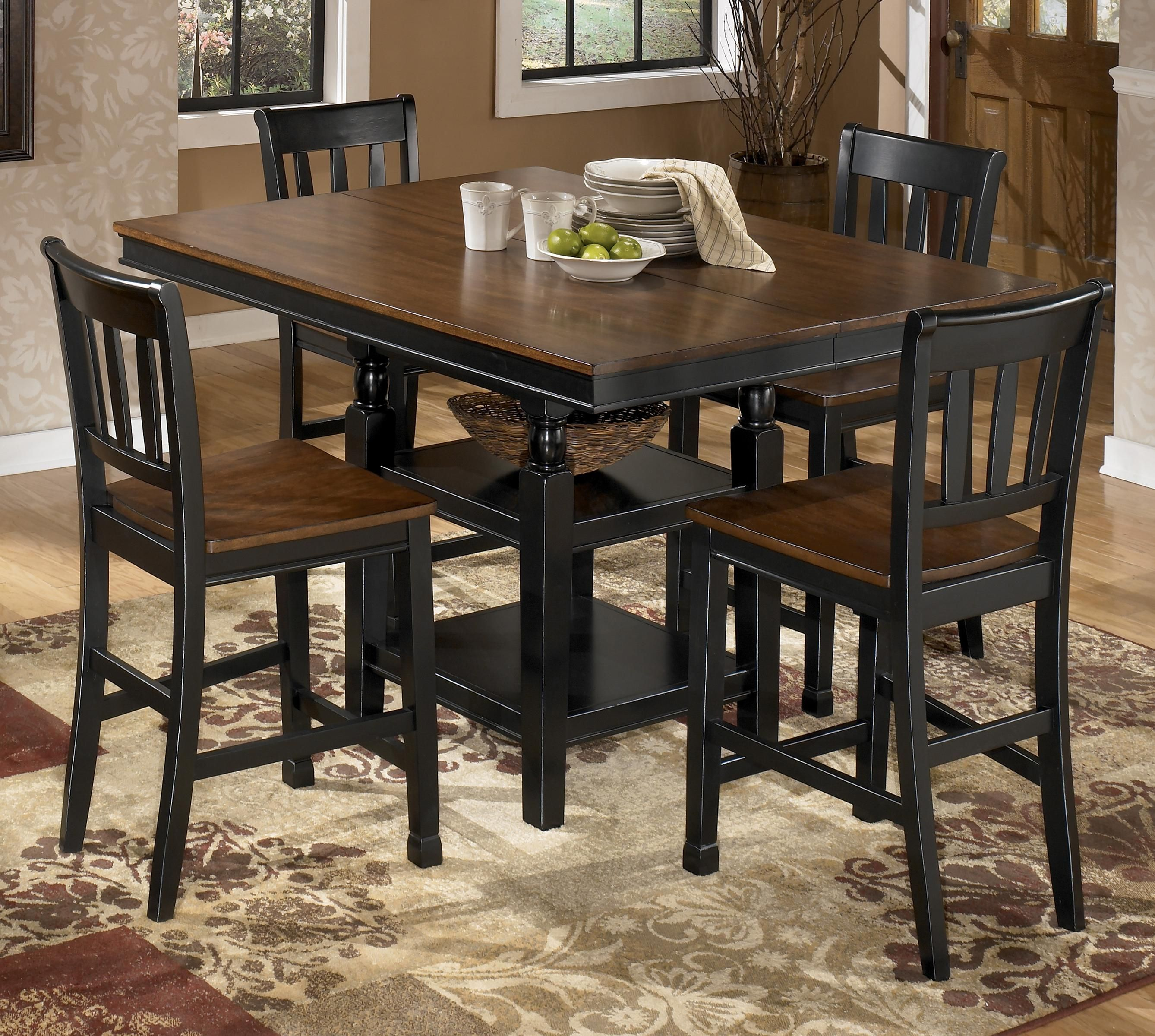 Kitchen Dining Area Owingsville 5 Piece Counter Extension Table