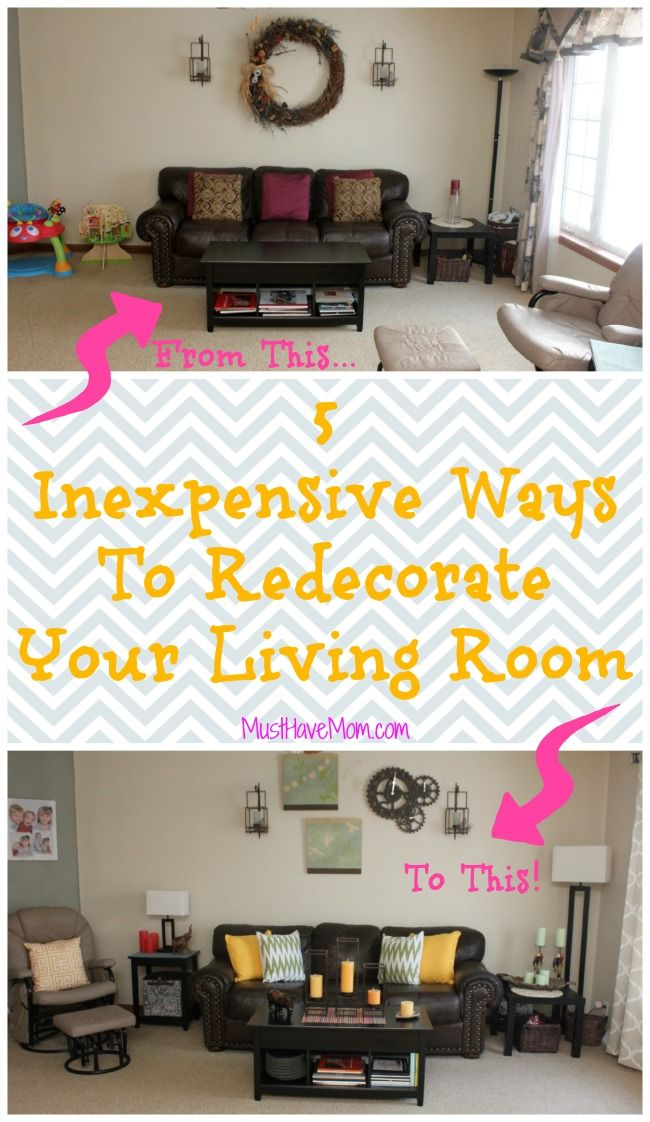5 Inexpensive Ways To Decorate Your Living Room Home