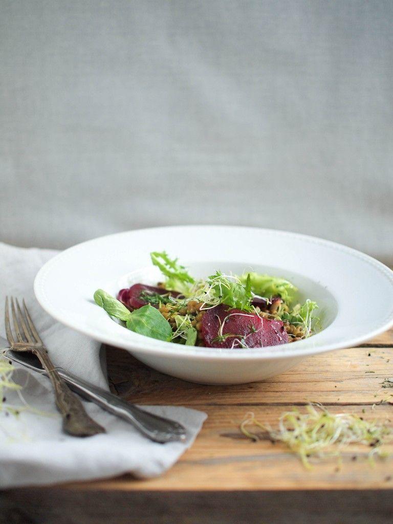 Šalát z mungo fazuliek s cviklou / Mung beans salad with beetroot