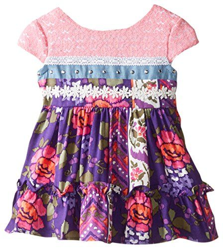 Youngland Baby Girls Multi Printed Fashion Dress Multi 0 3 Months