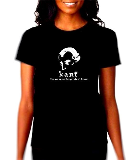 Philosophy T Shirt Tee Kant Geekery Existential Literature Humor Funny Novelty Mens zWMQg