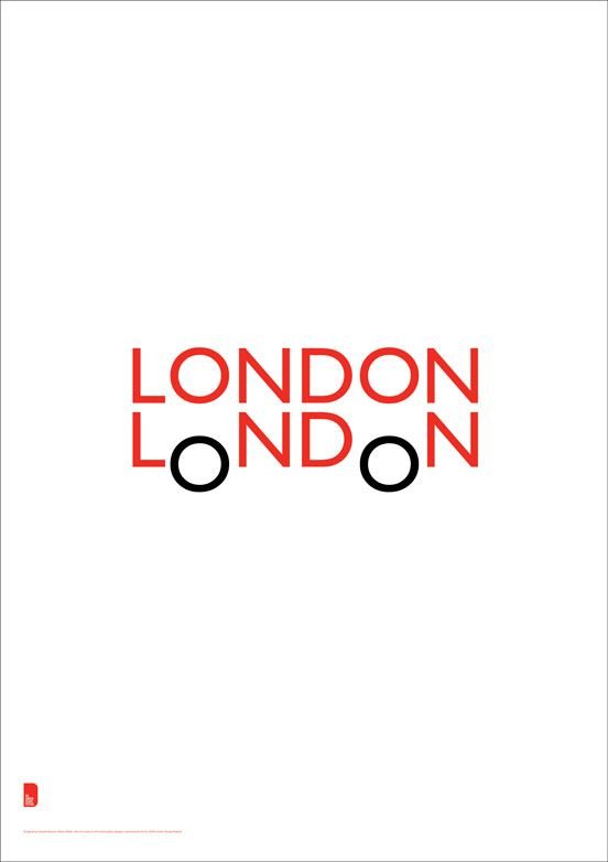 """Double London"" London Design Festival poster by Quentin Newark Atelier Works LLP"