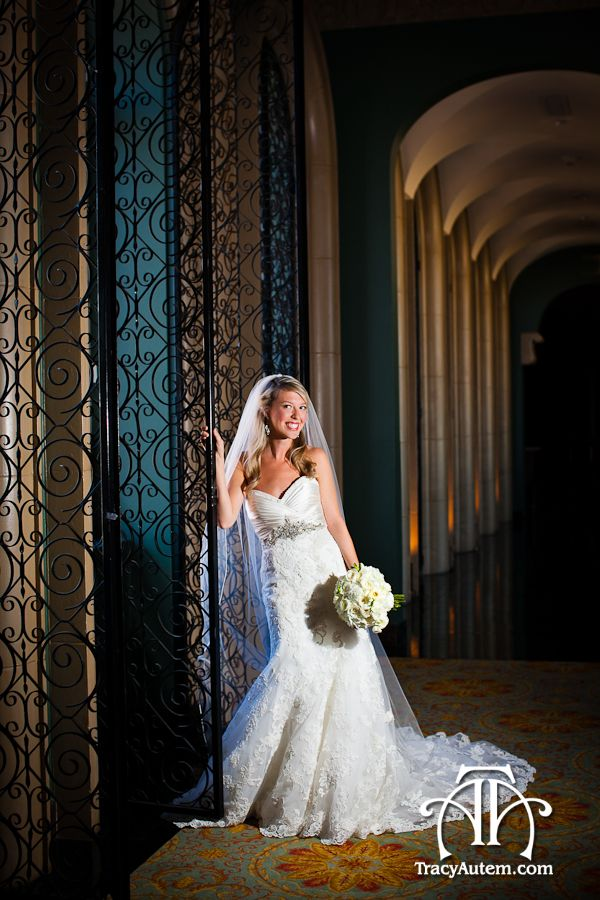 Classic Formal Bridal Portrait With Dramatic Side Light At The Fort