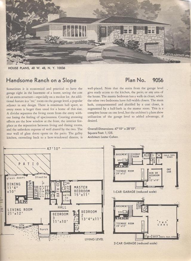 ranch slope floor plans pinterest vintage house plans ranch
