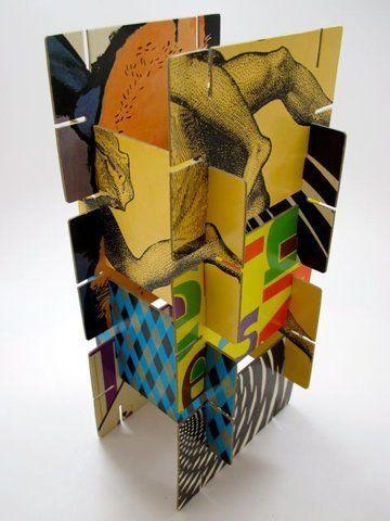 Cardboard With Slits Cardboard Art School Art Projects Art Lessons