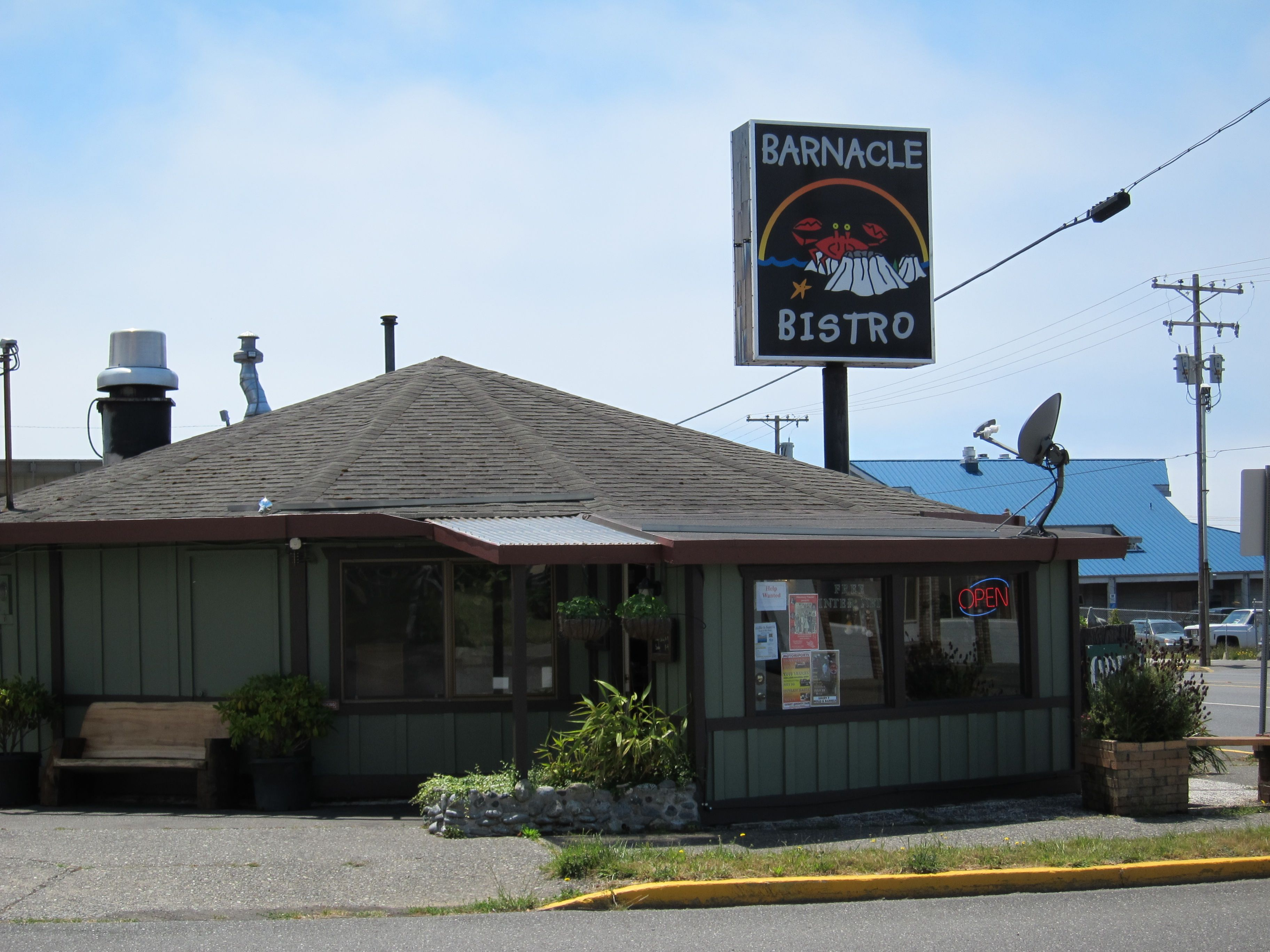 Barnacle Bistro, Gold Beach...for fish and chips caught