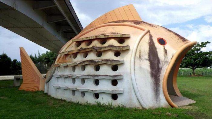 Bagno Giapponese ~ Bagni pubblici in giappone a forma di pesci granchi e tronchi d