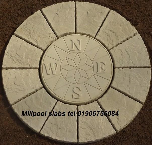 compass rotunda circle paving slabs stone patio delivery