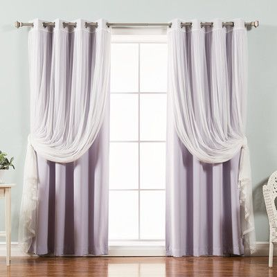 House Of Hampton Gregg Blackout Thermal Curtain Panels Size 52 W X