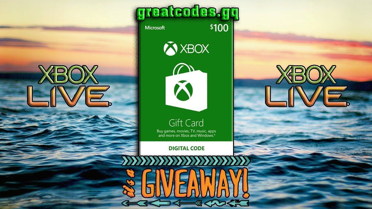 Free xbox live code   xbox live gold   xbox gift cards new update 2018