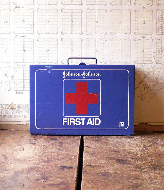 Vintage Wall Mounted First Aid Kit