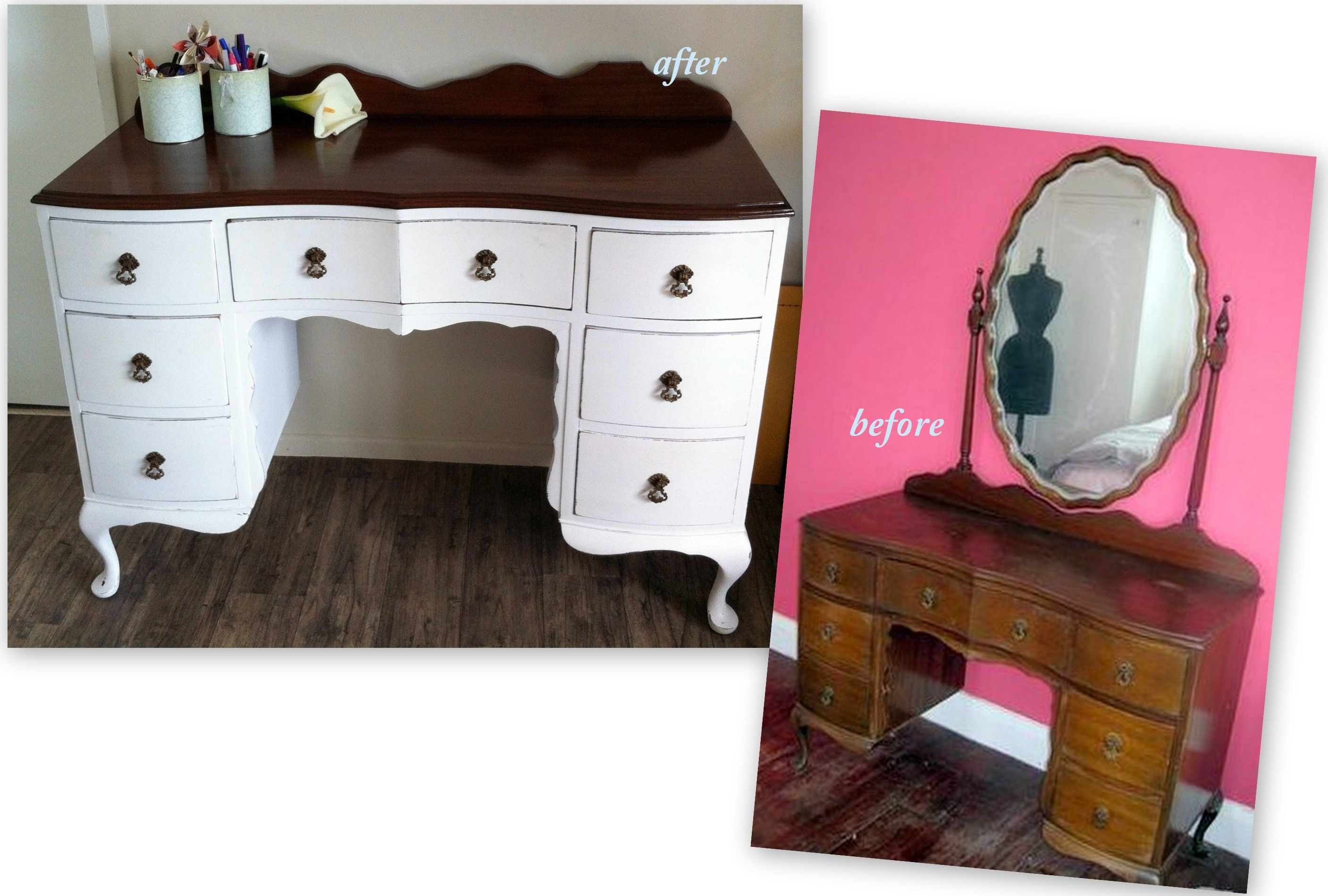 my fabulous desk dresser repurposed