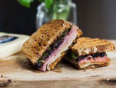 Blackberry, Tavern Ham & Melted Mozzarella Panini | Dietz & Watson™