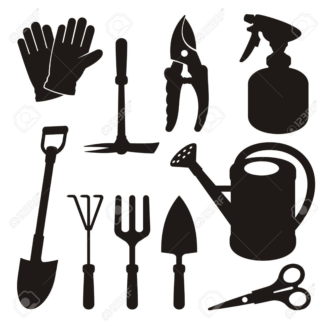 Gardening tools stock illustrations cliparts and royalty for Gardening tools cartoon