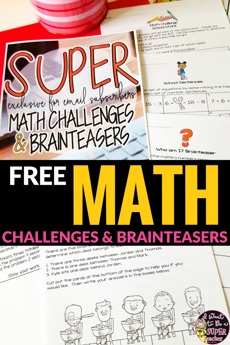 Challenge Your Advanced Mathematicians Without Breaking A Sweat Use These Free Math Challenge And Brain Teaser A Math Challenge Free Math Free Math Worksheets [ 1102 x 735 Pixel ]