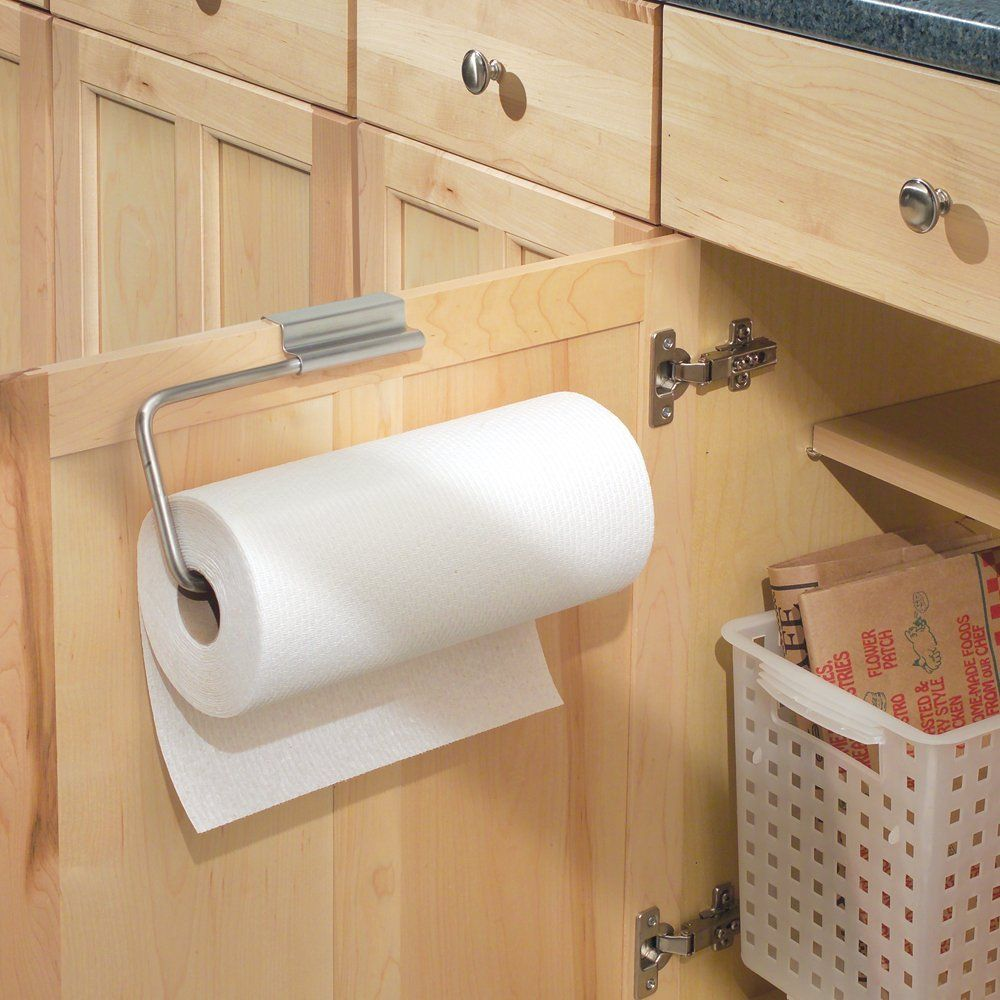 Amazon.com: InterDesign Axis Over the Cabinet Paper Towel Holder ...