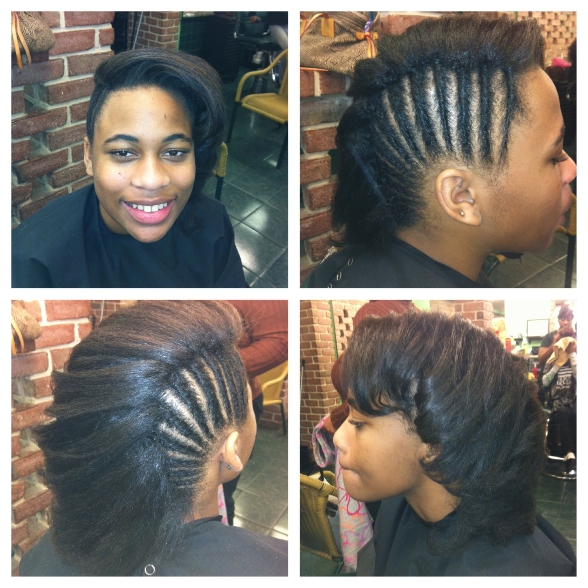 Natural Hair Flat Ironed Mohawk Curly Hair African American Short Hairstyles For Women Natural Hair Styles
