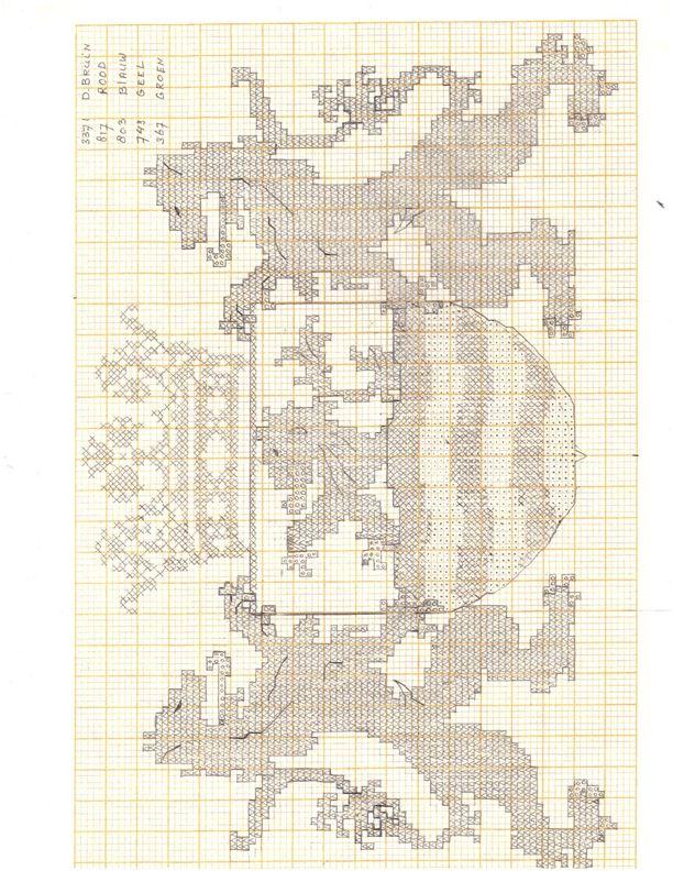 Zeeuwse Merklap 2 Cross Stitch Celtic Medieval Fantasy