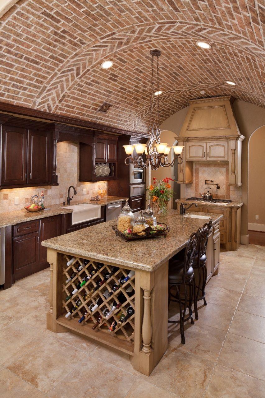 Mediterranean Kitchen - barreled ceiling | Mediterranean ...