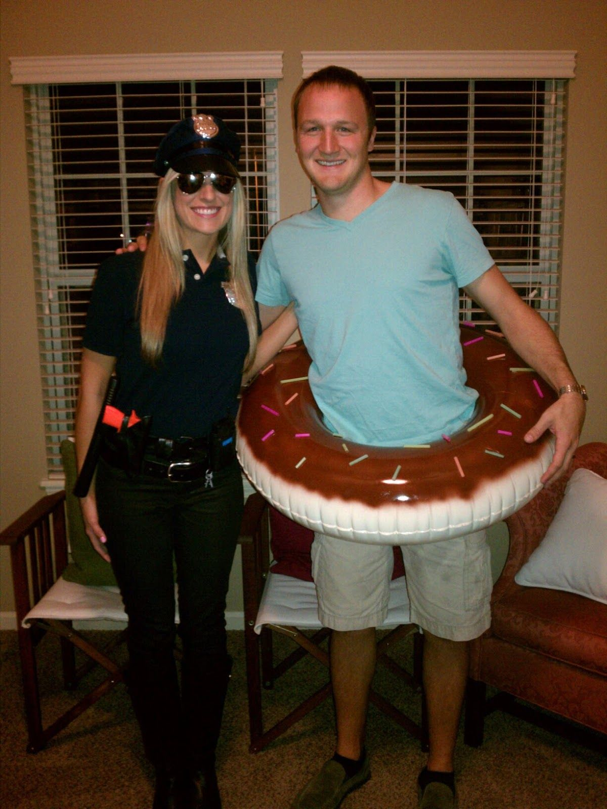 katie raines diy couples halloween costume ideas him the cop and her the doughnut - Halloween Costumes Idea For Couples