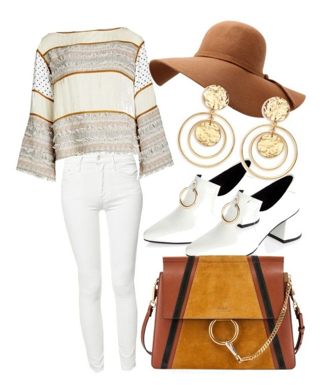 """""""#outfit35"""" by agroche on Polyvore featuring Mother, See by Chloé, Kenneth Jay Lane and Chloé"""