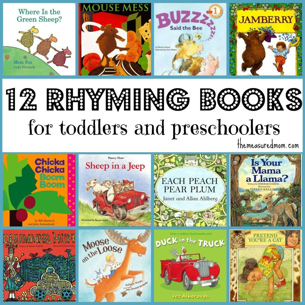 Great List Of Rhyming Books For Toddlers And Preschoolers