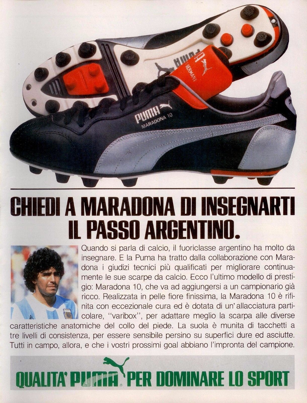83d1638f7 Find many great new & used options and get the best deals for Original  Advertising years 70 Puma Maradona 10 advert Werbung reklame Vintage at the  best ...