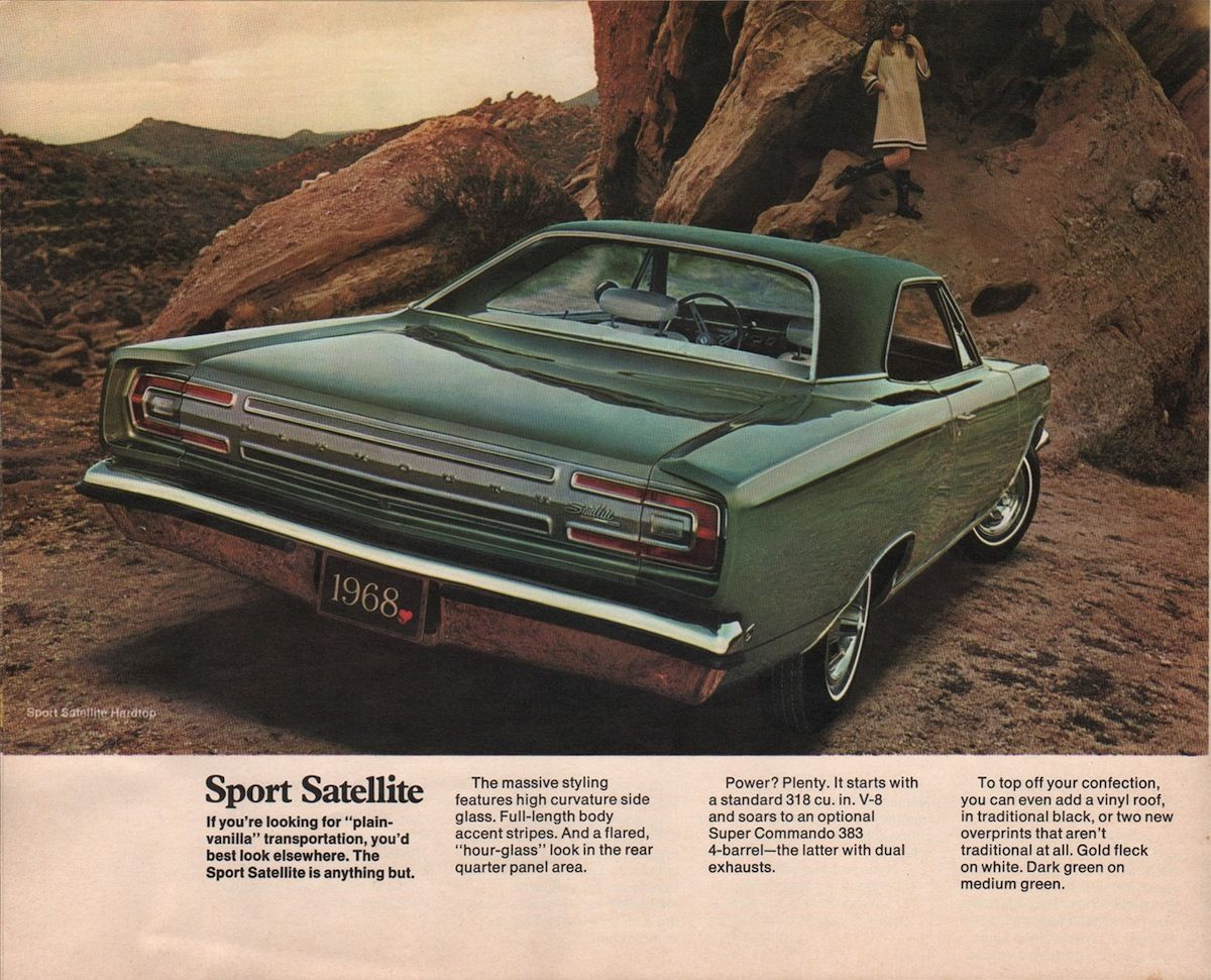 Chrysler 1968 Plymouth Sales Brochure Plymouth Satellite Muscle Car Ads Mopar Muscle Cars