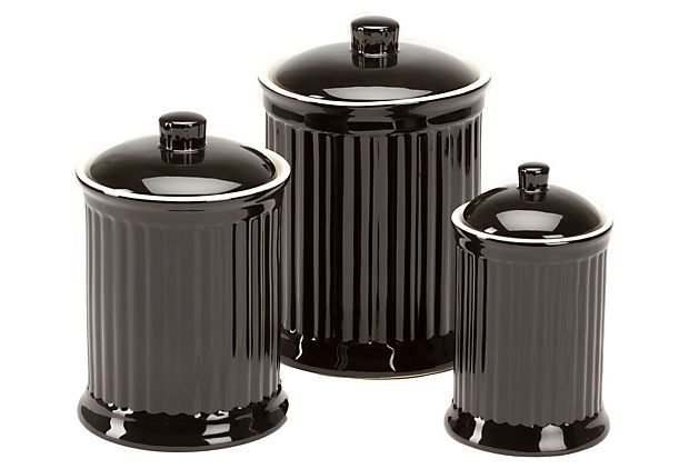 Canisters, Red Or Black