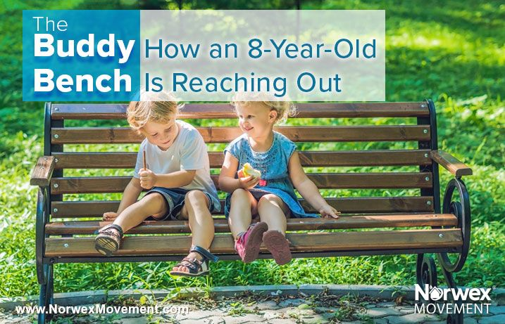 the buddy bench reduces plastic and loneliness can an eight year old