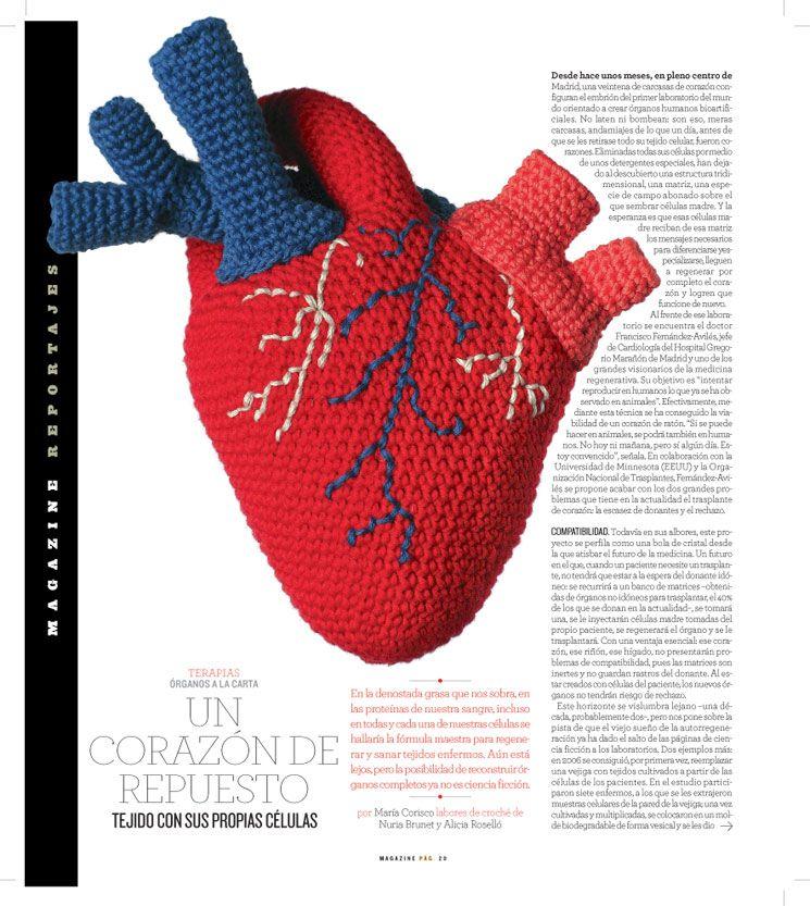 Bonito Patrón De Corazón Anatómico Ganchillo Galería - Manta de ...