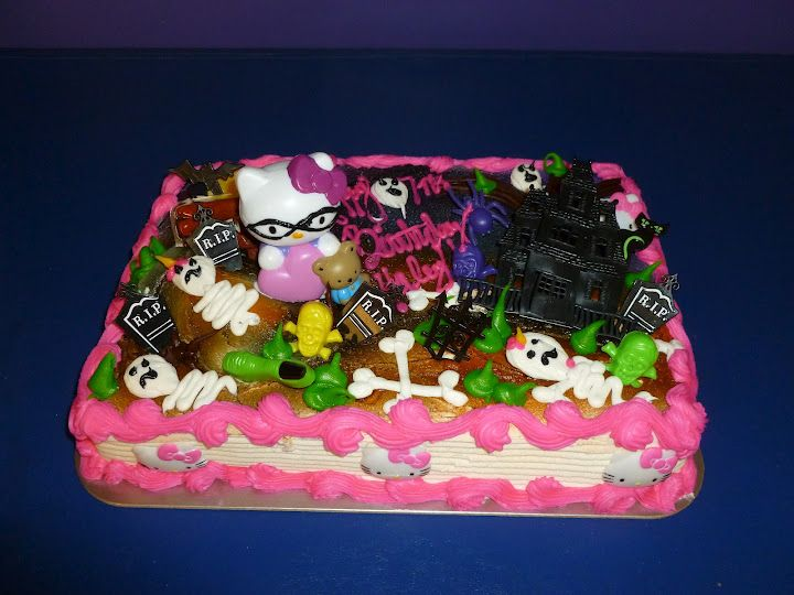 Halloween Hello Kitty Birthday Cake Awesome Thanks To Our Local