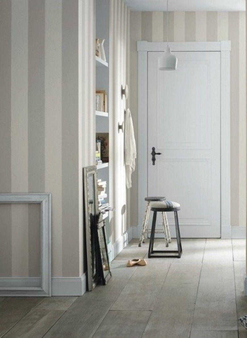 tapete lazy stripe col.08   landhaus tapeten in den farben grau, Wohnzimmer