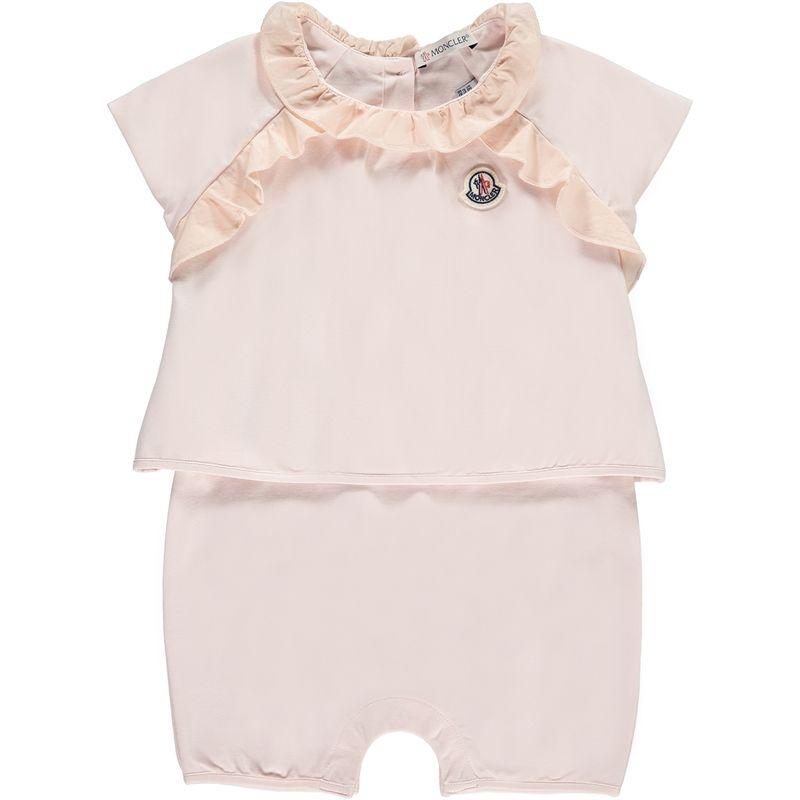 MONCLER Baby Girls Pink Romper - Jakss