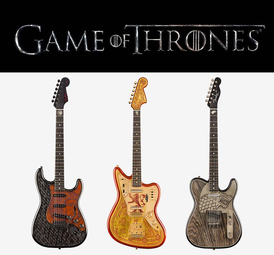 fender unveils game of thrones guitars design guitar cardboard guitar custom guitars. Black Bedroom Furniture Sets. Home Design Ideas