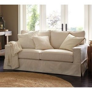 white denim sofa loveseat from twill slipcover studio