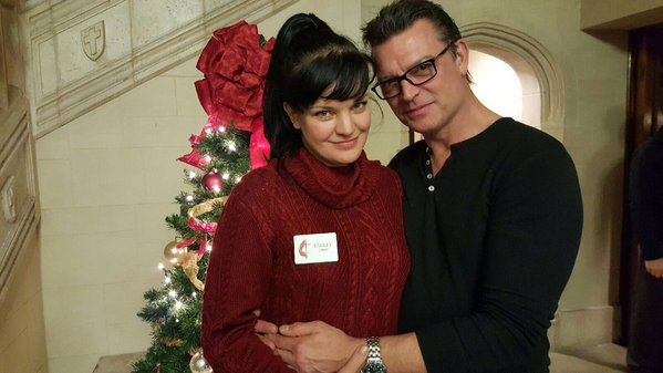 me and my thomas at church christmas service tonight merry christmas y all pauley perrette