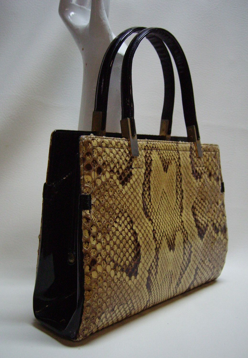 c3d54f1ff8cb KORET 60s Python Snakeskin Handbag Purse by Vintageables on Etsy  https   www.