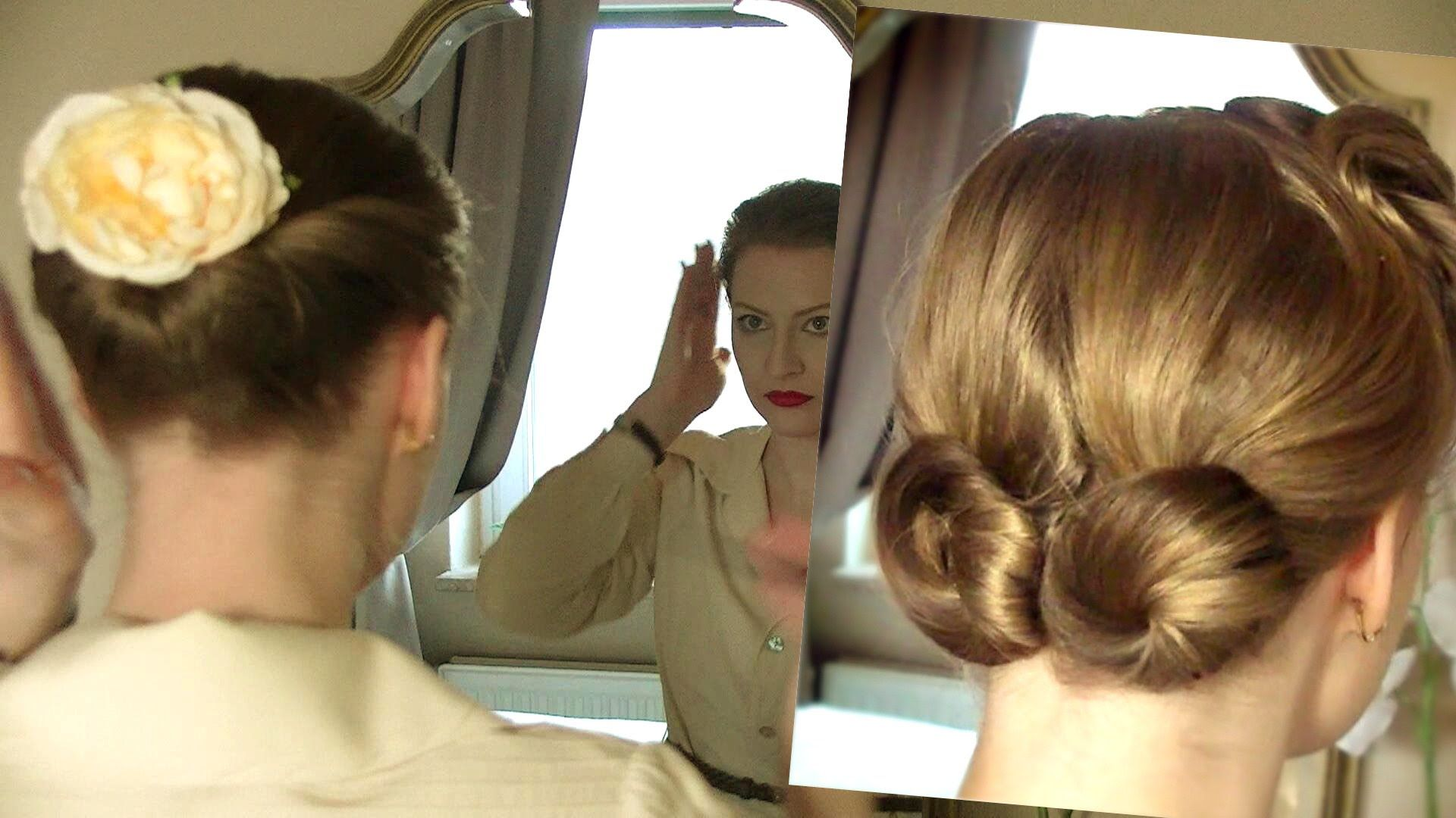 A few very easy simple yet charming retro hairstyles of the mid