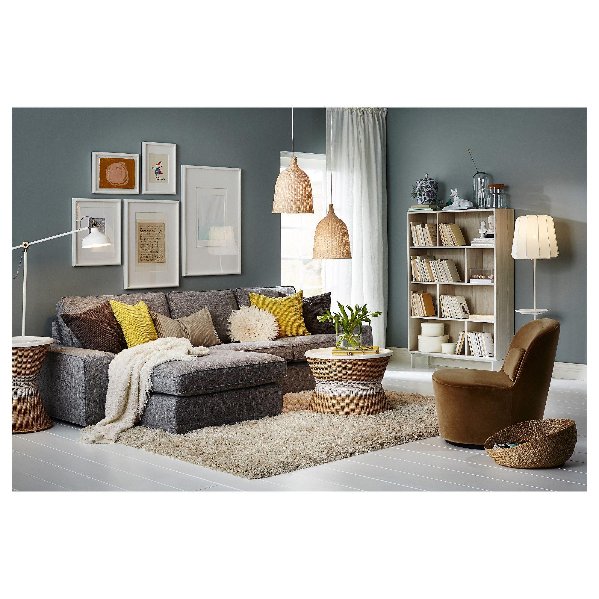 VALJE Shelf unit Larch white 100x150 cm