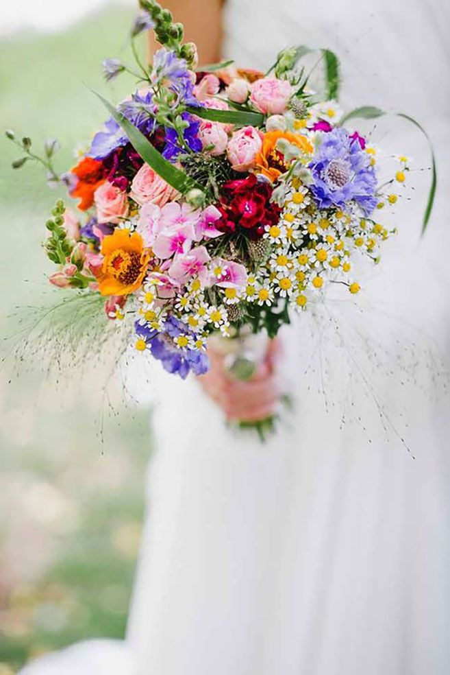 Wildflower Bouquets For Every Type Of Wedding | Weddings, Wedding ...