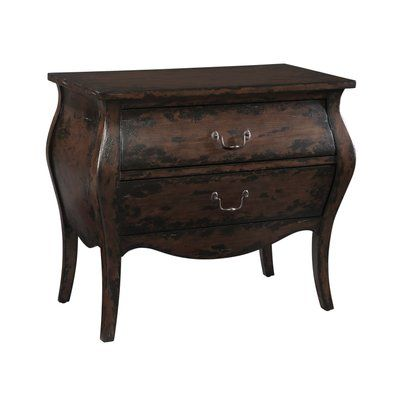 Best Hekman Bombay 2 Drawer Accent Chest Hickory Furniture 400 x 300