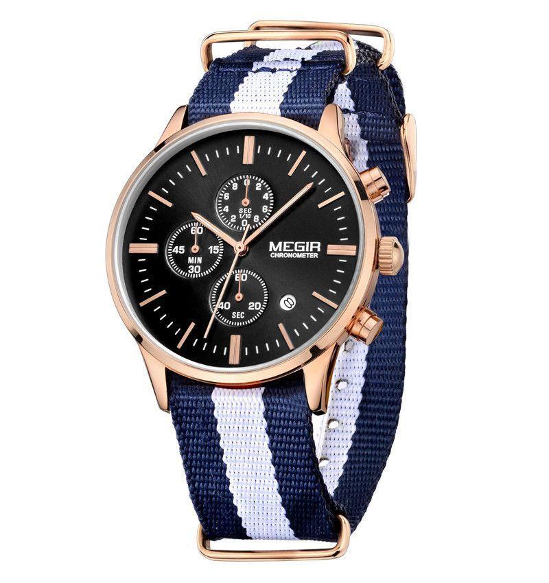 megir mens watches top brand luxury 6 hand function chronograph megir mens watches top brand luxury 6 hand function chronograph watch military men s canvas genuine