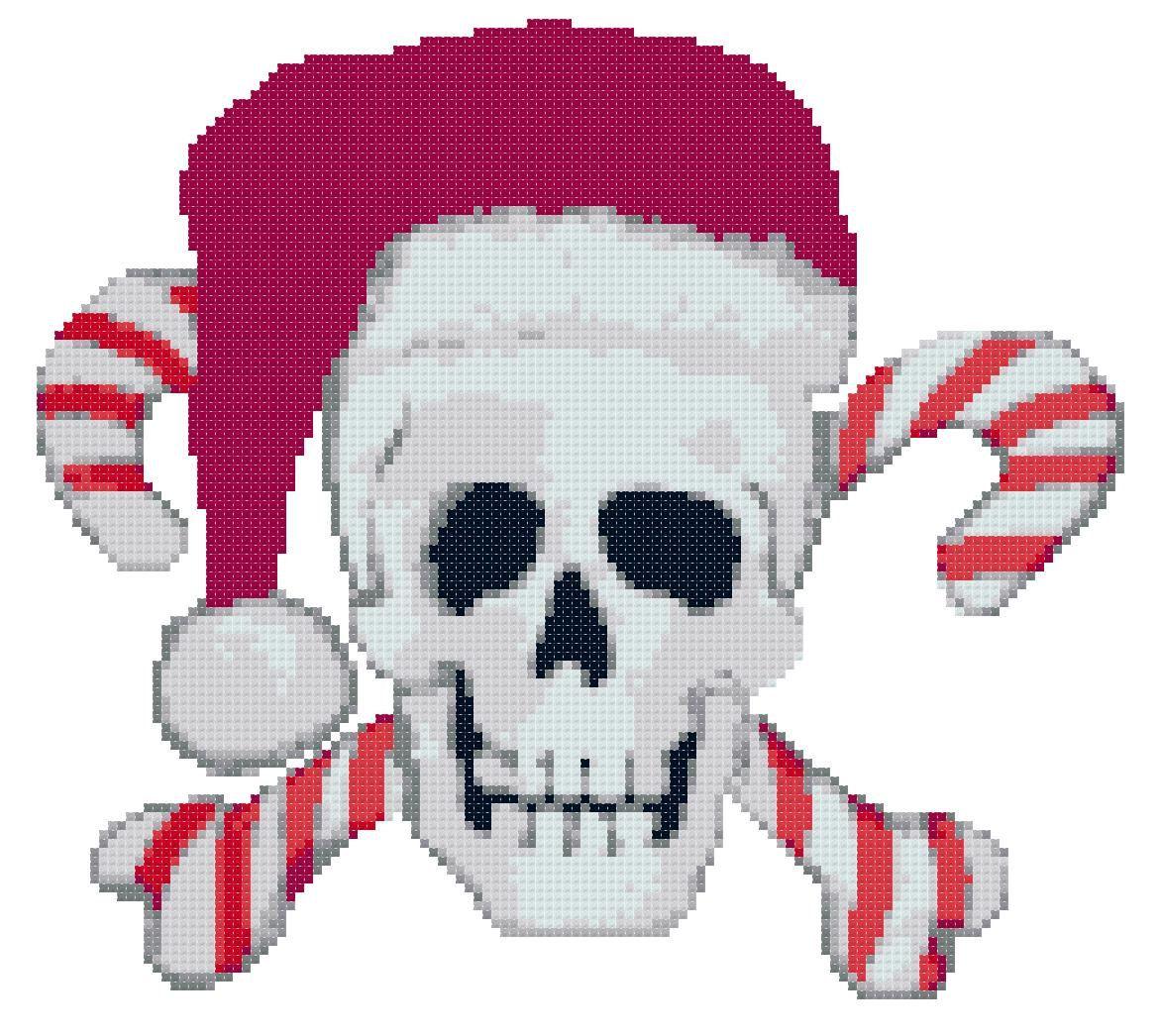 Encantador Cráneo Crochet Y Cruzadas Patrón Colección de Imágenes ...