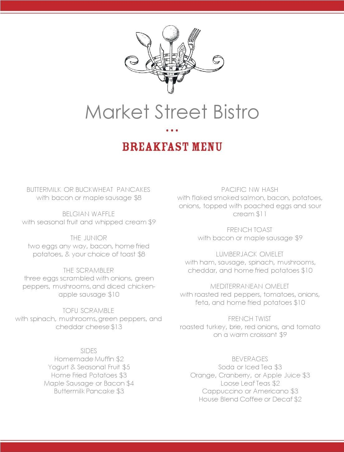 breakfast menu format – Breakfast Menu Template