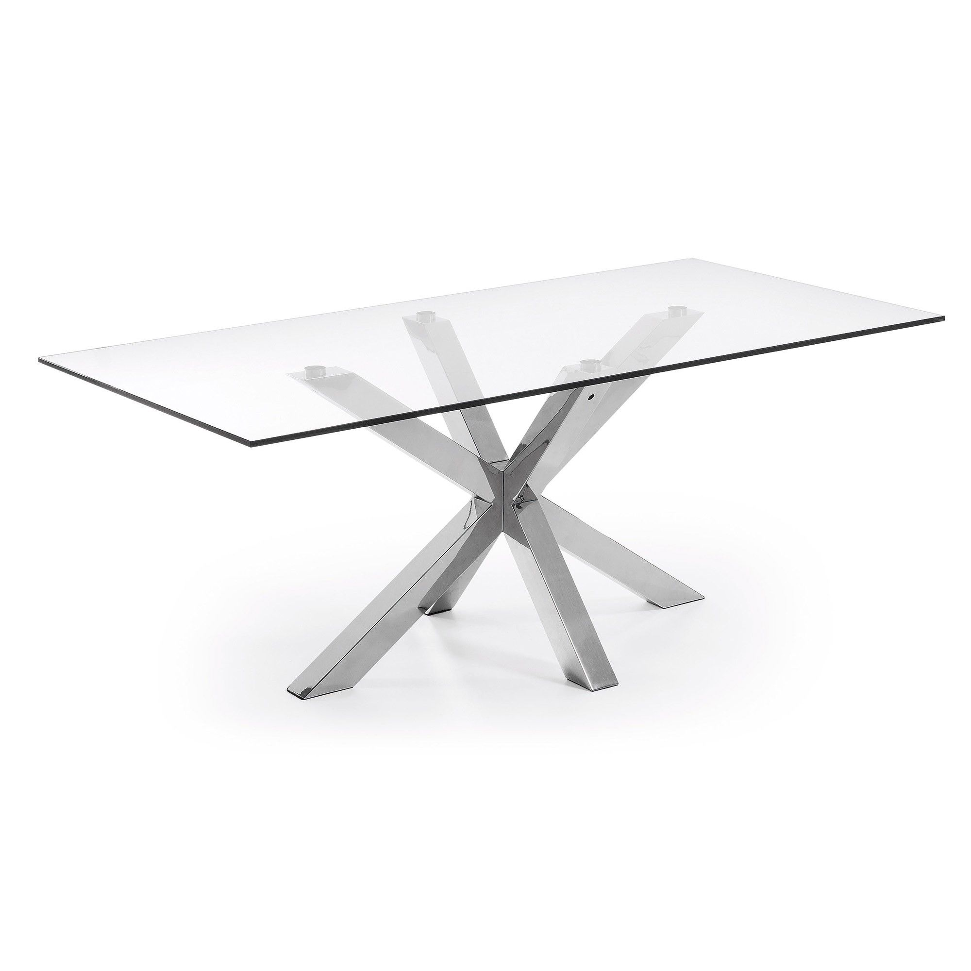 Table Argo 200x100 Cm Inox Et Verre Table Cuisine Pinterest