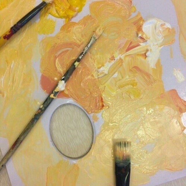 Unique orange and Yellow Paint