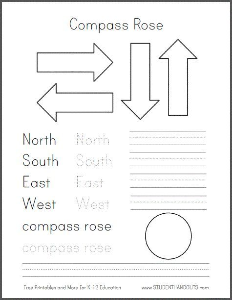 DIY Compass Road for Primary Grades Social Studies/Geography Free