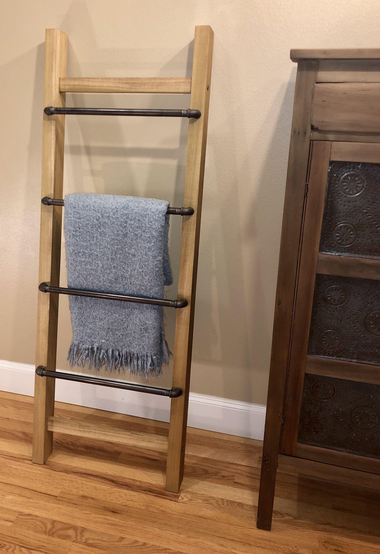 Blanket ladder farmhouse craftsman industrial 5