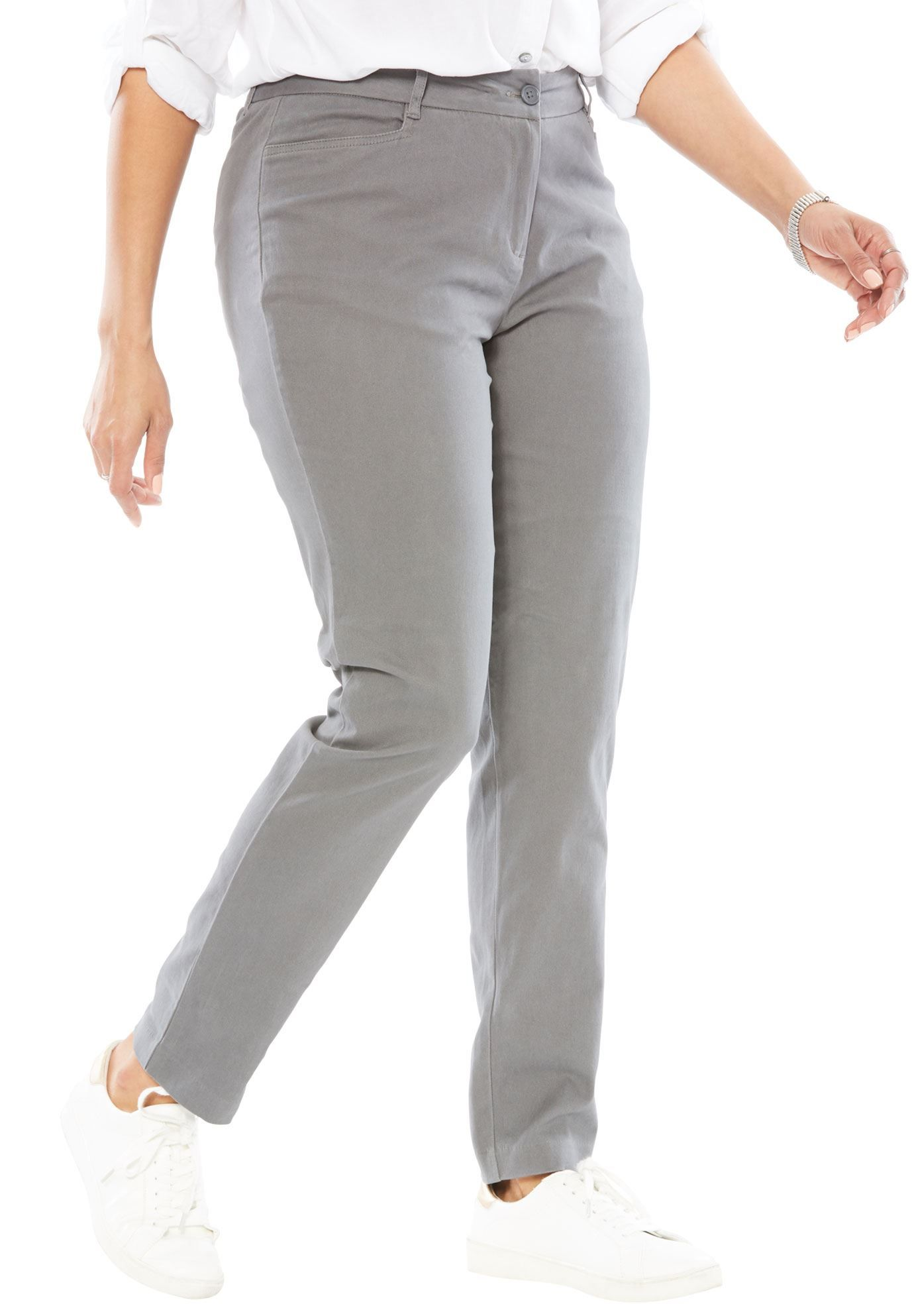 Peached Stretch Skinny Chino Women s Plus Size Clothing